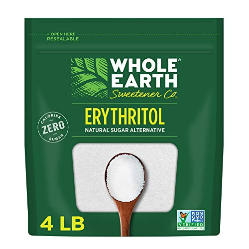 Whole Earth Sweetener Co. Zero Calorie PlantBased Sugar Alternative, 4 Pound Pouch, 100% Erythritol, 64 Oz