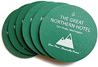 The Great Northern Hotel Twin Peaks Inspired Set of 6 Foam Coasters