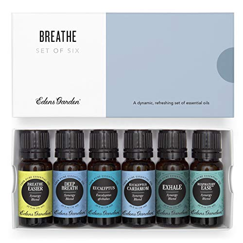 Edens Garden Breathe Essential Oil Set, 100% Pure Aromatherapy