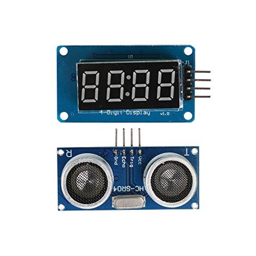 Busirde HC-SR04 de medición de Distancia por ultrasonidos + Módulo de Pantalla para Arduino
