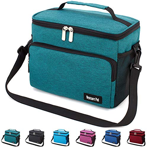 Leakproof Reusable Insulated Cooler Lunch Bag - Office Work Picnic Hiking Beach Lunch Box Organizer with Adjustable Shoulder Strap for Women,Men