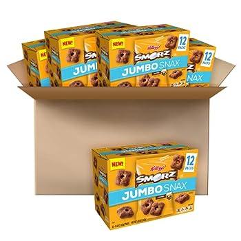Kellogg s Smorz Jumbo Snax Jumbo Cereal Snacks S mores On the Go Snacking 20.2oz Case  4 Count