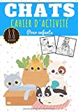 Chats Cahier d'activité: Pour enfants Age 4 - 8 Ans Filles & Garçons | Cahier Enfant d'exercices Maternelle, 88 activités et jeux pour apprendre en ... point, Labyrinthes, et plus | Cadeau éducatif
