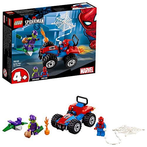 LEGO Super Heroes Persecución en coche de Spider-Man, set de construcción de...