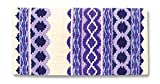 Mayatex Riverland Saddle Blanket, Cream/Show Purple/Eve Lilac, 36 x 34-Inch