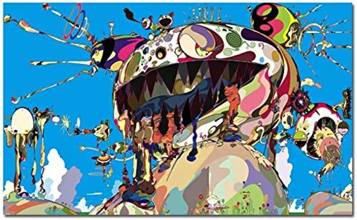 Impresión en lienzo 60x80cm sin marco Tan Tan Bo Puking Modern Takashis Murakami Imágenes de arte de pared para sala de estar HD Decoración del hogar Póster e impresión