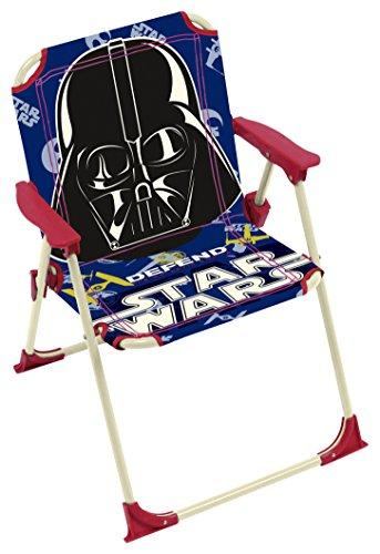 ARDITEX 009464 Chaise Pliante pour Enfant Sous Licence Star Wars en Métal et Tissu Maison de camping pour le jardin Dimensions: 38x32x53cm