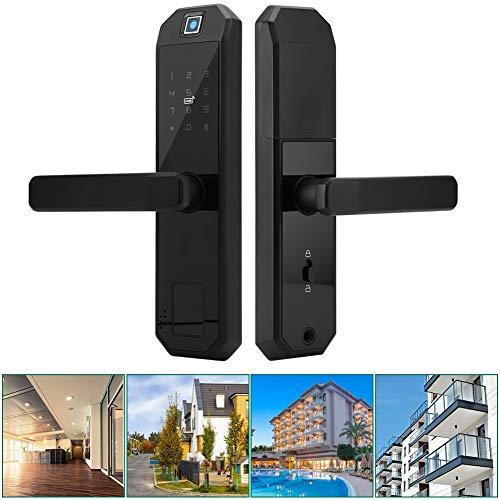 Vingerafdruk deuropener, elektronisch deurslot vingerafdruk/pincode/kaart/sleutel Smart Lock, werkt op batterijen, geschikt voor deurdiktes 40-100 mm