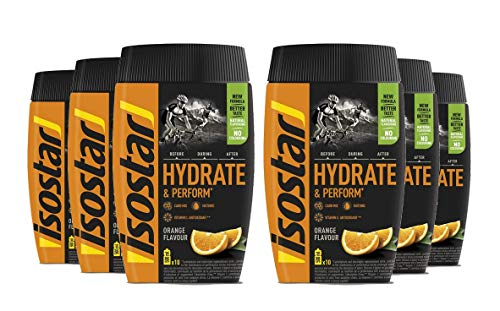 Isostar Hydrate & Perform Orange, 6 Dosen a 400g