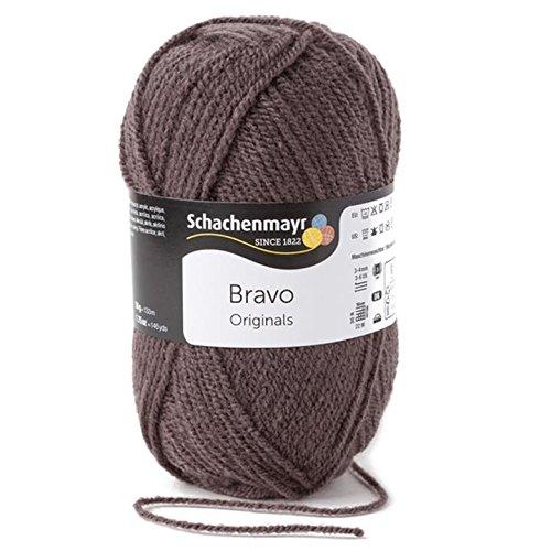Schachenmayr Bravo 9801211-08348 schiefer Handstrickgarn, Häkelgarn