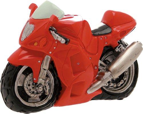 Hucha de moto color rojo de 23 cm (fibra de vidrio – No es un juego) (Envío fijo Euro 11,90 – Puede añadir otros artículos en el mismo pedido hasta un peso total de 40 kg)