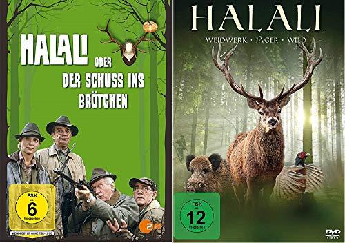 Halali oder der Schuß ins Brötchen + Halali - Weidwerk, Jäger, Wild [DVD Set]