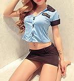 DENEB セクシー コスプレ 衣装 セーラー服 ナース ネコ メイド ナース ポリス チャイナドレス (婦警+手錠)