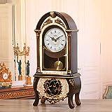 SXZHDZ Orologio da Tavolo Orologio da caminetto Retro Orologio Nonno Vivere Orologio di Ora di Orologio A Pendolo Decorazione Ornamenti Orologi