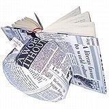Belenci PS00045 - Almohadón de lectura, diseño de periódico, multicolor