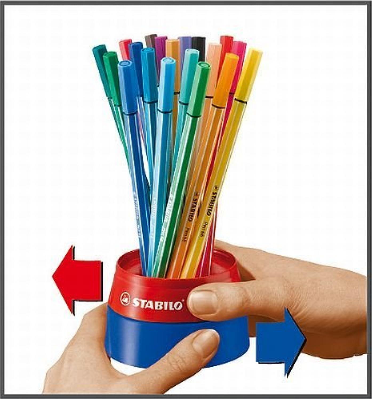 STABILO Pen68 Professionelle Qualität Faserstift - Twister Twister Twister Desk von 19 Stifte Set B004PJBSLW | Grüne, neue Technologie  94e41e