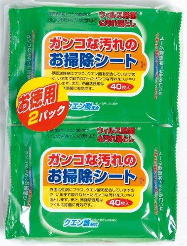 ガンコな汚れのお掃除シート40枚×2P