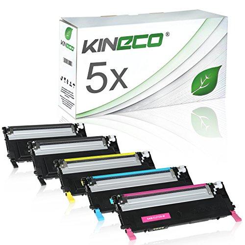 5 Toner kompatibel zu CLP-320 für Samsung CLP-325, CLX-3180, CLX-3185 - Schwarz je 2.500 Seiten, Color je 2.000 Seiten