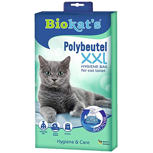 Biokat\'s Polybeutel XXL - Zur Auslage in der Katzentoilette für hygienischen Wechsel der Katzenstreu - 1 Packung (1 x 12 Beutel)