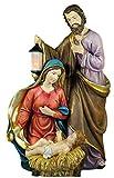 Flambeaux Grande Sagrada Familia Belén de Navidad–poliresina 38cm Pintado a Mano...