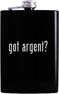 got argent? - 8oz Hip Alcohol Drinking Flask, Black