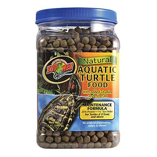 Zoo Med Natural Aquatic Turtle Food, Maintenance Formula, 24-Ounce
