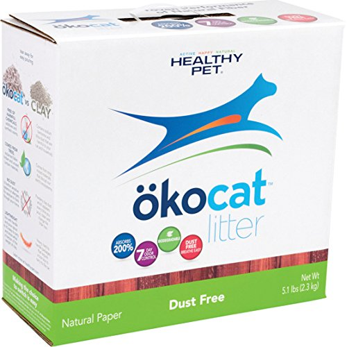okocat Natural Dust-Free Paper Cat Litter, 5.1 Pound