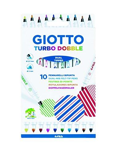 Giotto Turbo Dobble astuccio da 10 pennarelli bi-punta