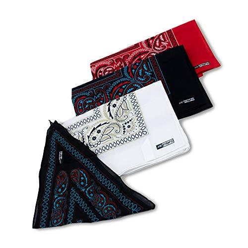 MRKROKS 4erSet Premium Bandana + Box im Paisley Design 55x55cm   Geschenkbox   Haarband, Halstuch, Mundschutz, Maske, Stirnband, Bandana Kopftuch, Bindetuch
