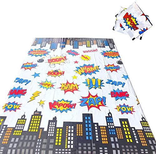 NAXIEE 2 Stücke Superheld Kunststoff Tischdecken,Wachstuch Tischdecke Wachstuch Wachstischdecke Tischdecke,PVC Tischdecke abwischbar,Superheld Tischdecke Party Supplies Dekorationen, 108 * 180 cm