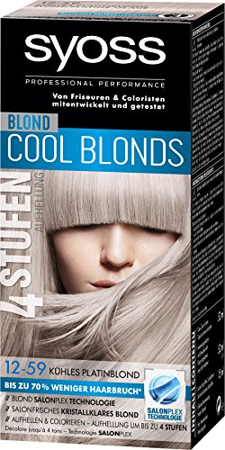 Syoss Blond Cool Blonds Haarfarbe, 12-59 Kühles Platinblond Stufe 3, 3er Pack (3 x 115 ml)