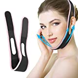 Facial Slimming Strap, Pain-Free Face-Lifting Bandage, V Line Lifting Chin Strap Double Chin Reducer Anti Wrinkle Face Band for Women Eliminates Sagging Skin Lifting Firming Anti Aging (Pink)