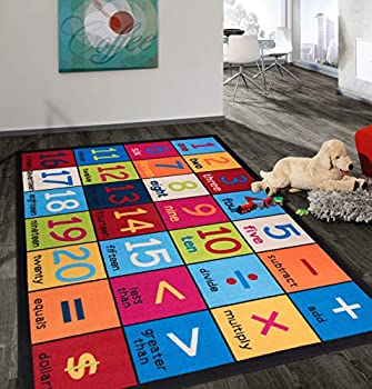 Rugshop Kids Educational Learning Numbers Area Rug