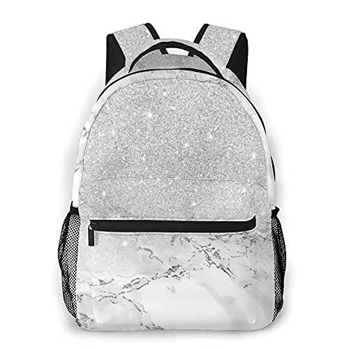 QQIAEJIA Casual Zaino,Glitter on Marble,Business Zainetto Schoolbag For Men Women Teen