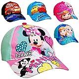 alles-meine.de GmbH Basecap - Disney Cars - inkl. Name - Größe 3 bis 12 Jahre - universal & verstellbar - 100 % Baumwolle - Kinder - Mütze / Sommermütze Baseball Cap - Belüftung ..