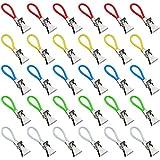 TXErfolg 30 Piezas Clip de Toalla de té 5 Colores Clips de Las Toallas de Cocina con Superficie Chapada Utilizado en Trapos de Cocina Toallas de Lavabo Manteles la Mayoría de los Artículos Colgantes