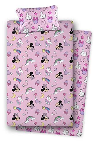 Asditex Juego de sábanas Coralina Minnie Mouse Unicornio (Cama 90)