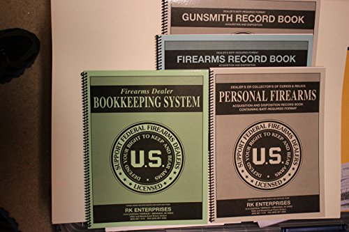 FFL Dealer Trial Pack; Dealer and Gunsmith Firearms A and D (300 EntryX 2 Books), Personal Firearms Record (51 Entry) and FFL Dealer Bookkeeping System