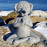Sculpture de Jardin,Chien Figurine Zen Yoga Chien Statue décoration de Jardin Sculpture extérieure décor à la Maison Ornements intérieurs Bouddha de Chien méditation