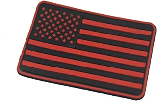 US Flagge Gummi 3D Klettverschluss Morale Patch Rechter Arm Patch (Rot)