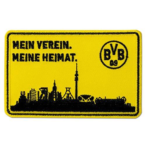 Borussia Dortmund Skyline Aufnäher (one size, gelb/schwarz)
