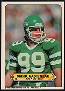 Football NFL 1983 Topps Stickers #13 Mark Gastineau NY Jets