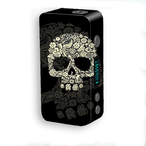 Skin Decal Vinyl Wrap for Smok Kooper Plus 200W Vape Mod Skins Stickers Cover / Flower Skull, Floral Skeleton