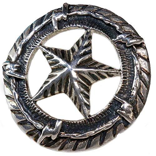 コンチョ ネイティブ スター 星 コイン アラベスク インディアン シルバー925コンチョ ナバホ 財布 ウォレット メンズ ネジ式