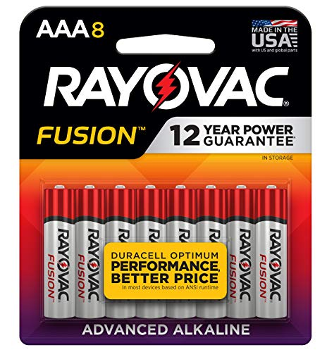 Rayovac Fusion Premium Alkaline, AAA Batteries, 8 Count