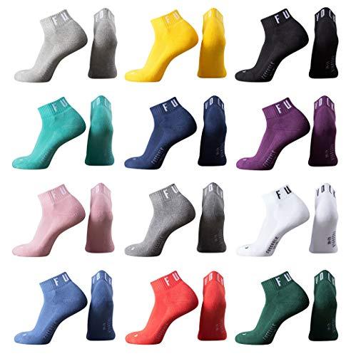 Fussvolk Quarter Socken uni Doppelpack Ankle Socks MADE IN GREEN Sportsocken 2er pack, Size:43-46, Farbe:yellow
