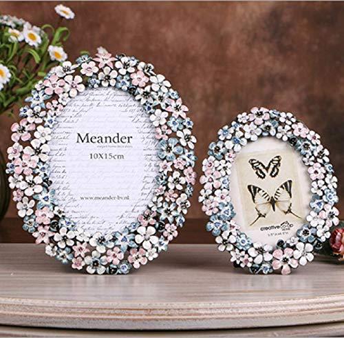 sportinggoods Idyllische emaille kleur metaal slinger frame fotolijst creatieve home decoratie fotolijst set tafel bruiloft ideeën