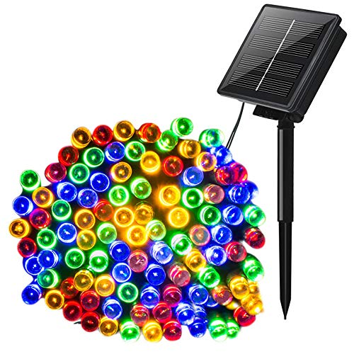 Zonne-Licht Snaar 100/200/220 LED-Kleur Kerstverlichting Bruiloft Outdoor Tuin Decoratie Met USB-Oplaadkabel 8-Modus,Color,200LED