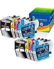 DOUBLE D 3219XL LC3219 XL vervangende cartridge voor Brother LC3217 LC3219 3219 Compatibel met Brother MFC-J5330DW MFC-J6930DW MFC-J5335DW MFC-J5730DW MFC-J6530DW MFC-J6935DW MFC-J5930DW (8-pack)