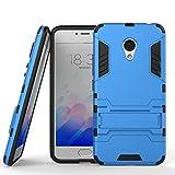 Guran Funda para Meizu M3 Note cáscara del teléfono Manguito Protector bicapa Mixto Resistente a los Golpes Anti-Deslizamiento TPU+PC (Azul)
